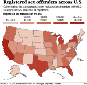 US Sex Offender Report - Us sex offender map